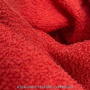 Atoalhado Felpudo Vermelho 100% Algodão tecido Felpado firme