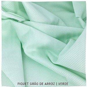 Piquet Grão de Arroz Verde tecido 100% Algodão