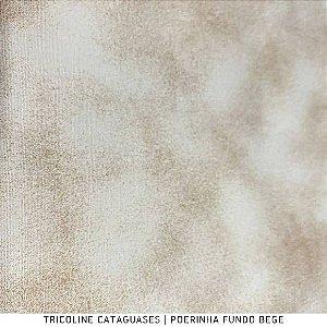Tricoline Poerinha Bege tecido Cataguases 100%Algodão - 1,40Largura