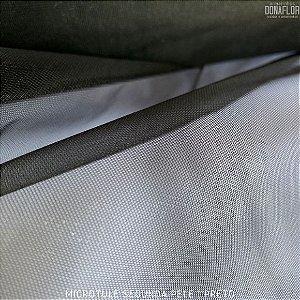 Microtule Segunda Pele Preto tecido Fino e Transparente