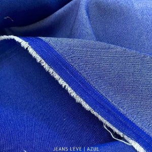 Jeans Leve Azul tecido 100% Algodão - 1.40Largura