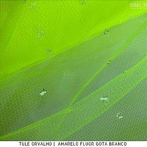 Tule Orvalho Verde com Gotas tecido Roupas, Decoração e Fantasias.