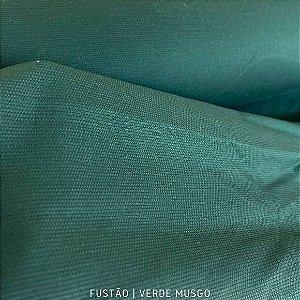 Fustão Verde Musgo tecido 100% Algodão com texturas