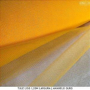 Tule Tradicional Amarelo Ouro tecido para Roupas, Decorações e Costura Criativa