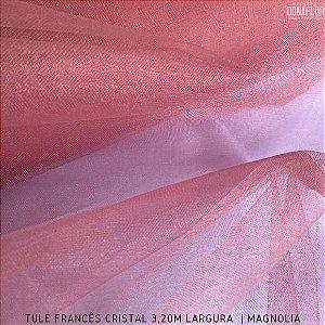 Tule Francês Magnólia tecido Fino, Leve e Brilhoso para Roupas e Decorações (3,20Largura)