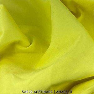 Sarja Lisa Amarelo Acetinada tecido Algodão com Elastano