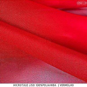 Microtule Vermelho tecido Fino e Leve