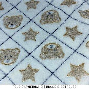 Microfibra Fleece Estrela Azul tecido Felpudo e Macio, aspecto de cobertinha