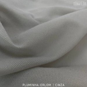 Pluminha Orlon, Cinza tecido Malha Felpuda para Costura Criativa