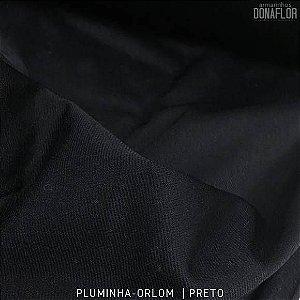 Pluminha Orlon, Preto tecido Malha Felpuda para Costura Criativa
