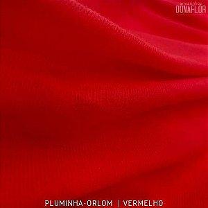 Pluminha Orlon, Vermelho tecido Malha Felpuda para Costura Criativa