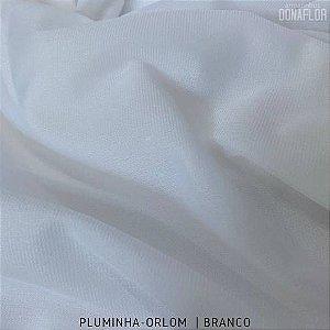 Pluminha Orlon, Branco tecido Malha Felpuda para Costura Criativa