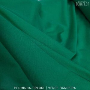 Pluminha Orlon, Verde Bandeira tecido Malha Felpuda para Costura Criativa