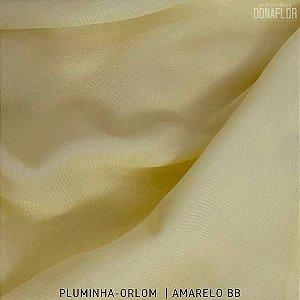 Pluminha Orlon, Amarelo tecido Malha Felpuda para Costura Criativa