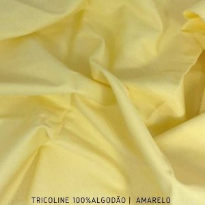 Tricoline Liso Amarelo tecido 100% Algodão 1,40Largura