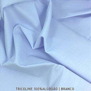 Tricoline Liso Branco tecido 100% Algodão 1,40Largura
