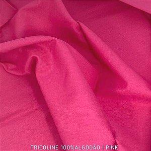 Tricoline Liso Pink tecido 100% Algodão 1,40Largura