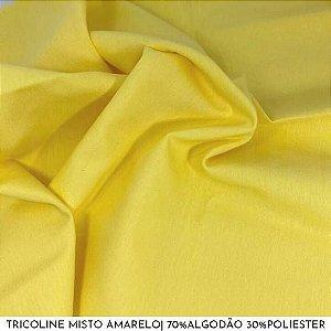 Tricoline Misto Amarelo tecido 1,40Largura