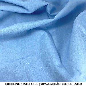 Tricoline Misto Azul tecido 1,40Largura