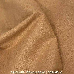 Tricoline Liso Caramelo tecido 100% Algodão 1,40Largura