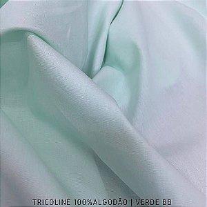 Tricoline Liso Verde Bebê tecido 100% Algodão 1,40Largura