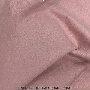 Tricoline Liso Rose tecido 100% Algodão 1,40Largura