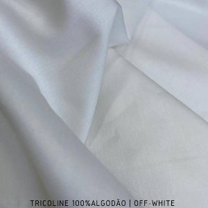 Tricoline Liso Off tecido 100% Algodão 1,40Largura