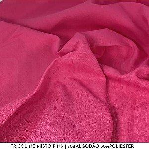 Tricoline Misto Pink tecido 1,40Largura