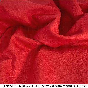 Tricoline Misto Vermelho tecido 1,40Largura