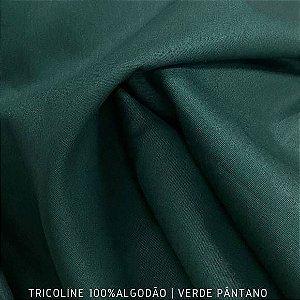 Tricoline Liso Verde Pantâno tecido 100% Algodão 1,40Largura