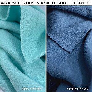 Microsoft tecido Hipoalérgico 2cortes Azul Tiffany e Petróleo Artesanato