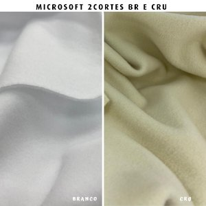 Microsoft tecido Hipoalérgico 2cortes Branco e Cru  Artesanato