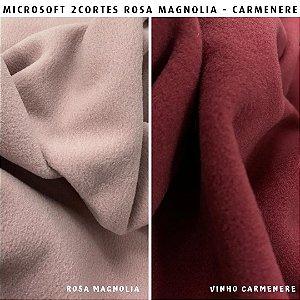 Microsoft tecido Hipoalérgico 2cortes Rosa Magnolia e Carmenere Artesanato