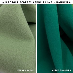 Microsoft tecido Hipoalérgico 2cortes Verde Palma e Bandeira Artesanato