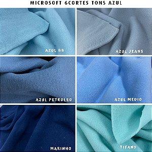 Microsoft tecido Hipoalérgico 6cortes Tons Azul, Artesanato
