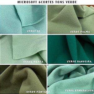 Microsoft tecido Hipoalérgico 6cortes Tons Verde, Artesanato