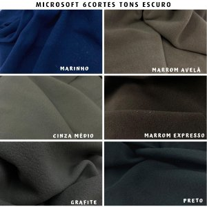 Microsoft tecido Hipoalérgico 6cortes Tons Escuros, Artesanato