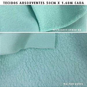 Melton e Microsoft Verde Bebê tecidos Absorventes, Artesanato