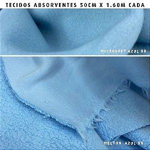 Melton e Microsoft Azul Bebê tecidos Absorventes, Artesanato