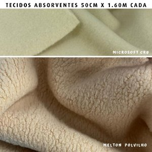 Melton e Microsoft Bege tecidos Absorventes, Artesanato