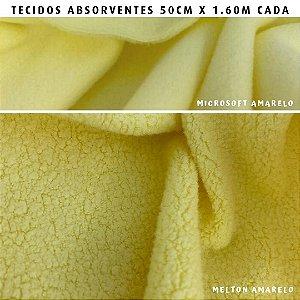 Melton e Microsoft Amarelo tecidos Absorventes, Artesanato