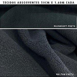 Melton e Microsoft Preto tecidos Absorventes, Artesanato
