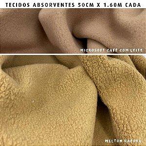 Melton e Microsoft Caramelo tecidos Absorventes, Artesanato