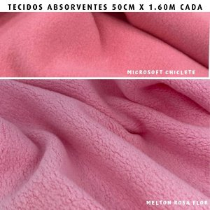 Melton e Microsoft Rosa tecidos Absorventes, Artesanato