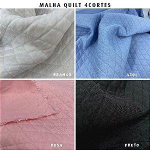 Malha Quilt Matelassê 4Cortes tecido - Medida 50cmx1,50m