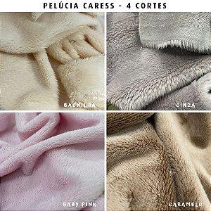 Pelúcia Caress, 4Cortes tecido 5mm pelo Baixo, Macia