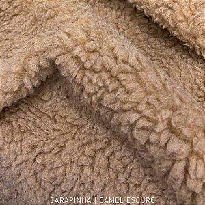 Carapinha Camel Escuro 50cm x 1,50m