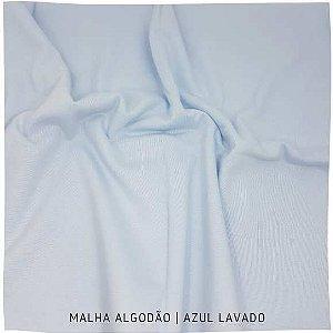 Malha 100%Algodão Penteada Azul 50cm x 1,80m (tubular)