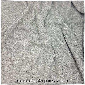 Malha Algodão Cinza Mescla 50x1,80m (tubular)