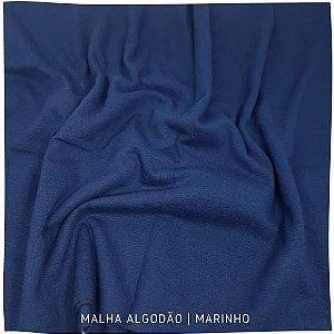 Malha Algodão Marinho 50cm x 1,80cm (tubular)